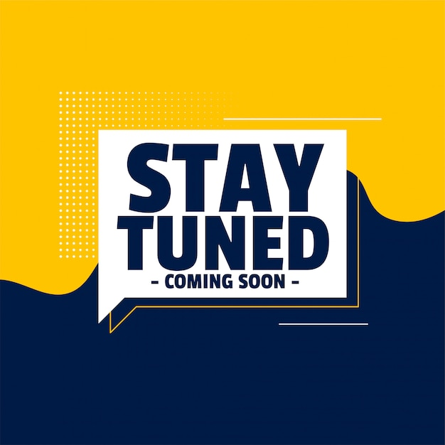 Free Vector | Stay tuned coming soon banner design