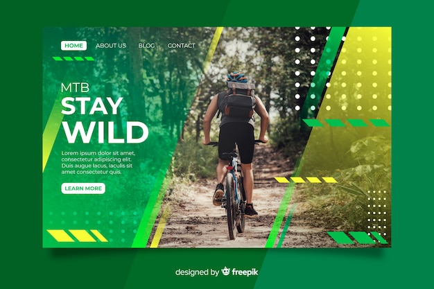 Stay wild sport landing page Free Vector
