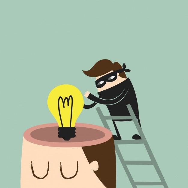 Stealing an idea design Free Vector