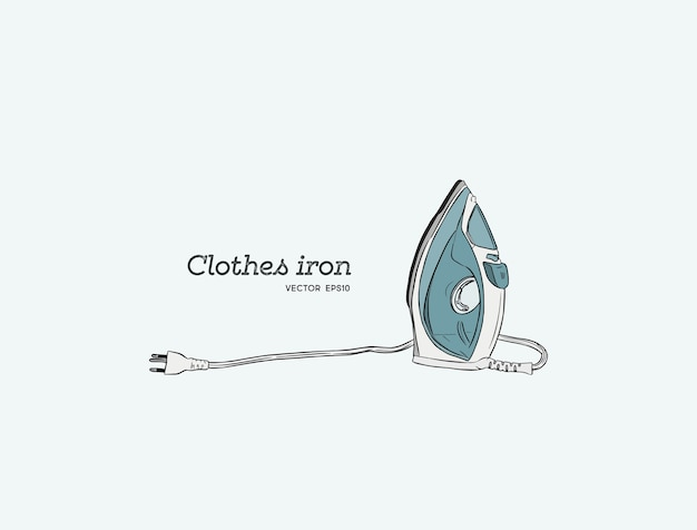 Steam irons for clotes, hand draw sketch vector. Premium Vector