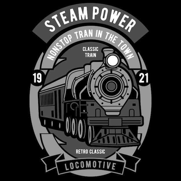 Steam power Premium Vector