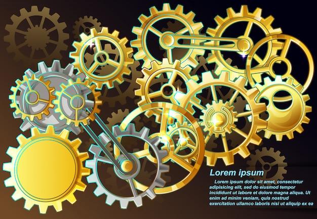 Steampunk background. Premium Vector