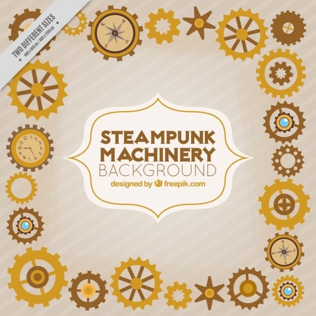 Steampunk machinery background