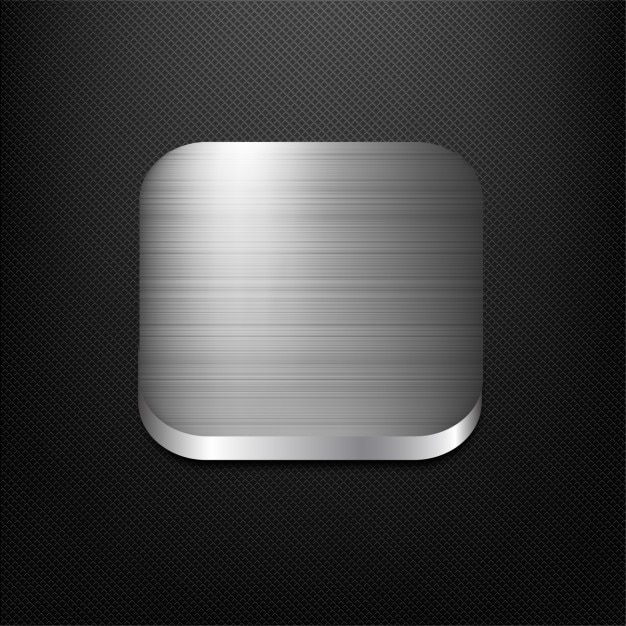 Steel app button Vector | Free Download