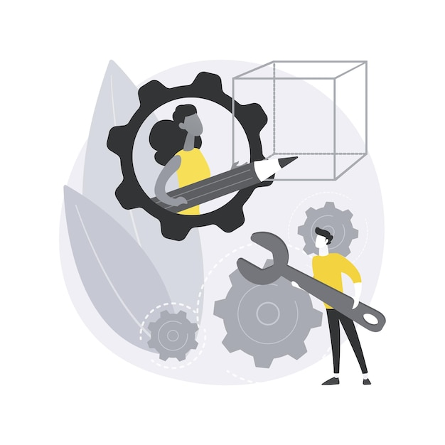 Stem activities abstract concept illustration. Free Vector