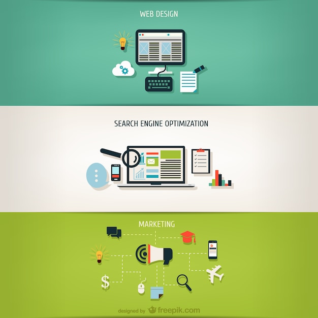 Step by step internet business Free Vector