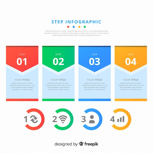 Step infographic Free Vector
