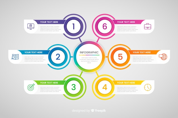 Steps business infographic Free Vector