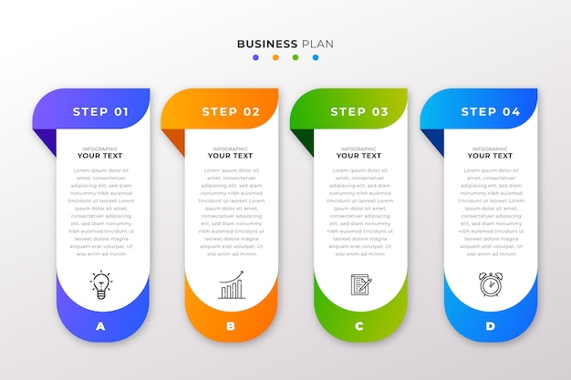 Steps infographic collection design Premium Vector