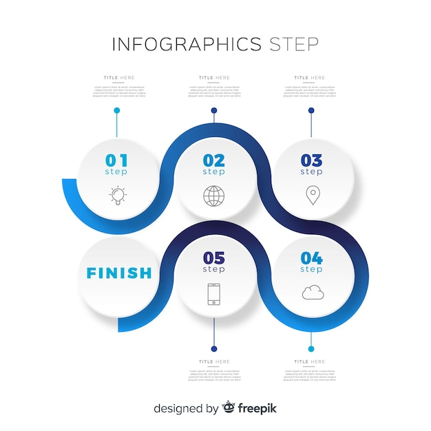 Steps infographic Free Vector