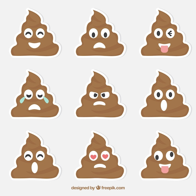 Sticker collection of funny character Free Vector