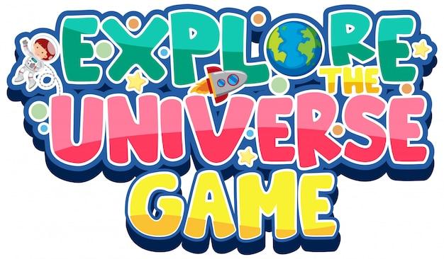 Sticker for explore the universe game Premium Vector