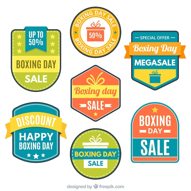 stickers of boxing day special sales\ collection