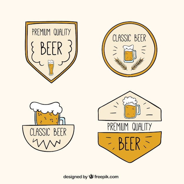Stickers with beer mugs