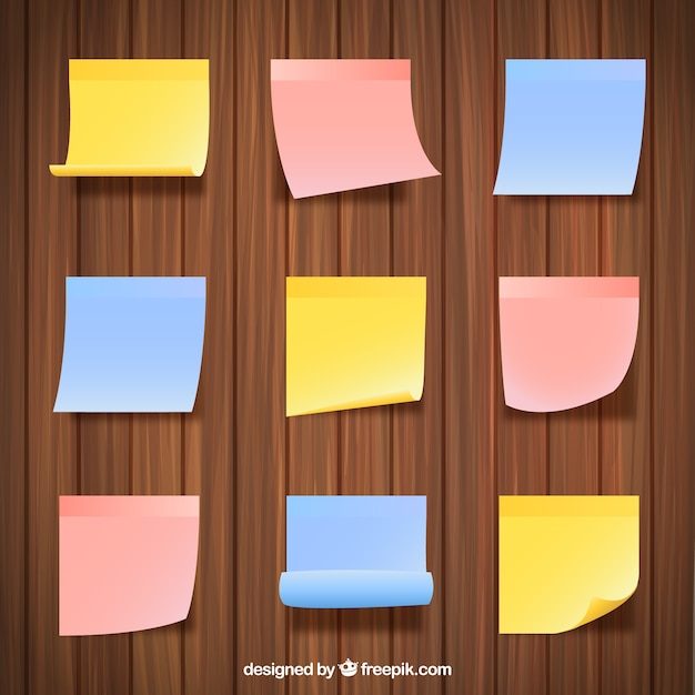 Sticky Notes Collection Vector | Free Downloadsticky Note Template