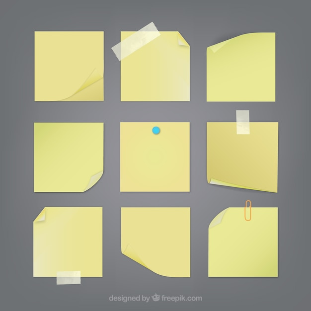Sticky notes collection Vector