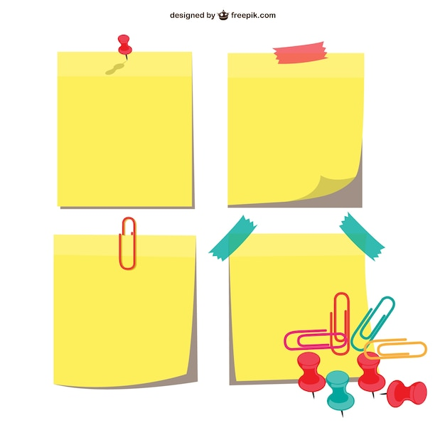 Sticky notes pack Free Vector