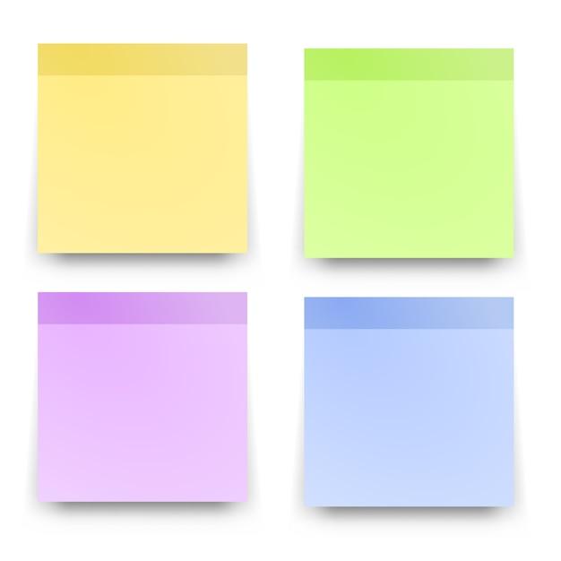 Sticky reminder notes Premium Vector