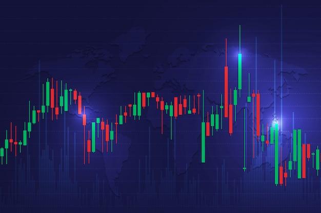 証券取引所の背景 Premiumベクター