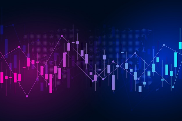 Stock exchange chart market investment trading. Premium Vector