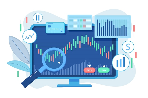Stock exchange data concept Premium Vector