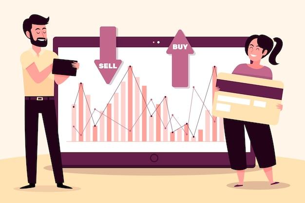 Stock exchange data concept Free Vector