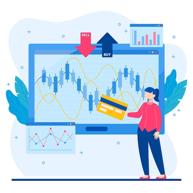 証券取引所のデータコンセプト 無料ベクター