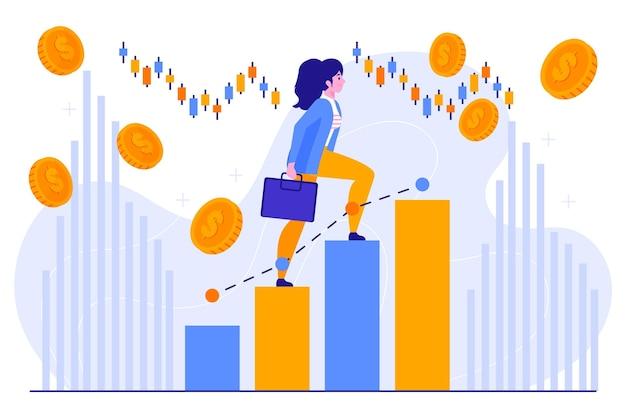 証券取引所のデータの概念 無料ベクター