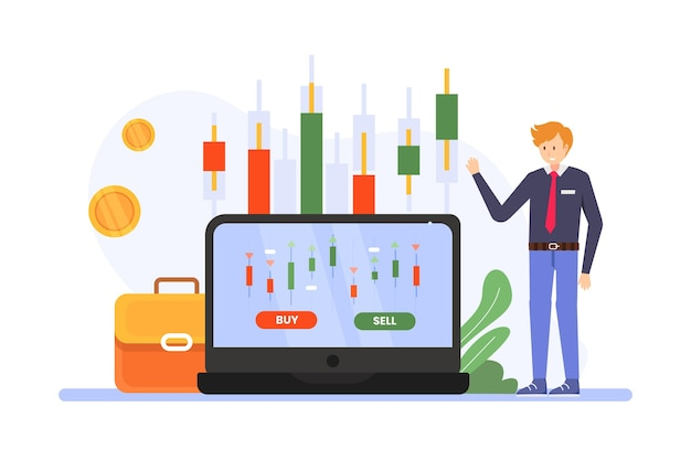 Stock exchange data illustration Premium Vector