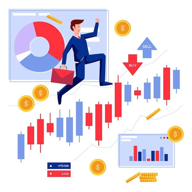 証券取引所データ 無料ベクター