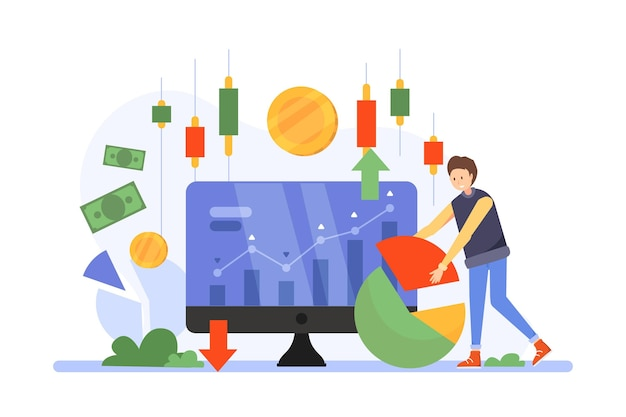 Stock exchange data Premium Vector