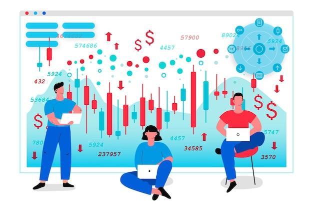 Данные биржи Бесплатные векторы