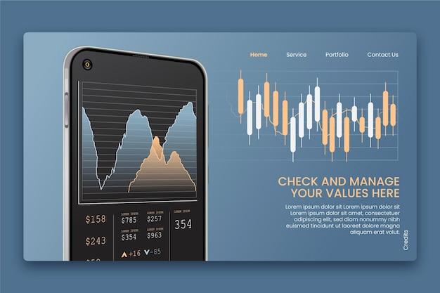 Stock exchange platform concept Free Vector
