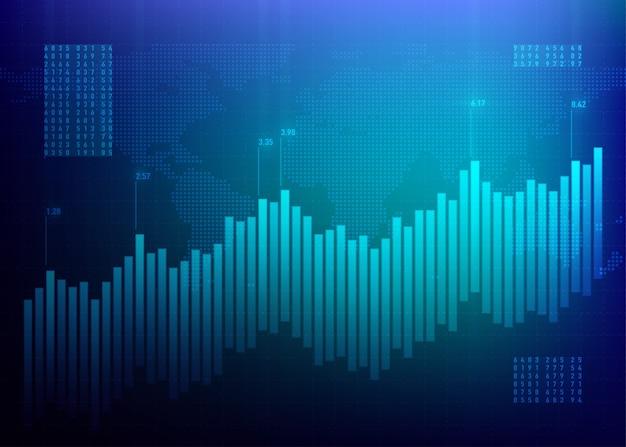 Фондовый рынок графиков. график финансов. синий рост бизнеса. интернет-банк данных облигаций. Бесплатные векторы
