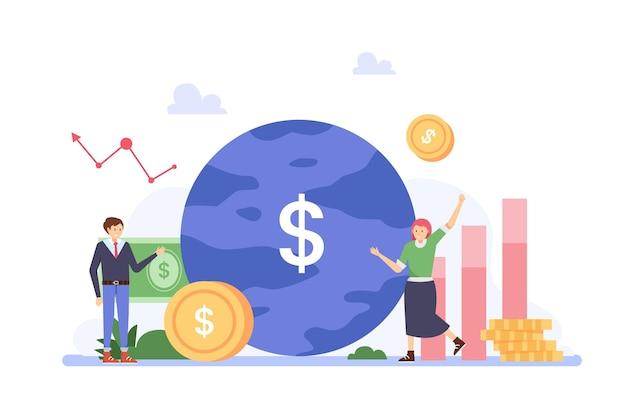 株式市場分析の概念 Premiumベクター
