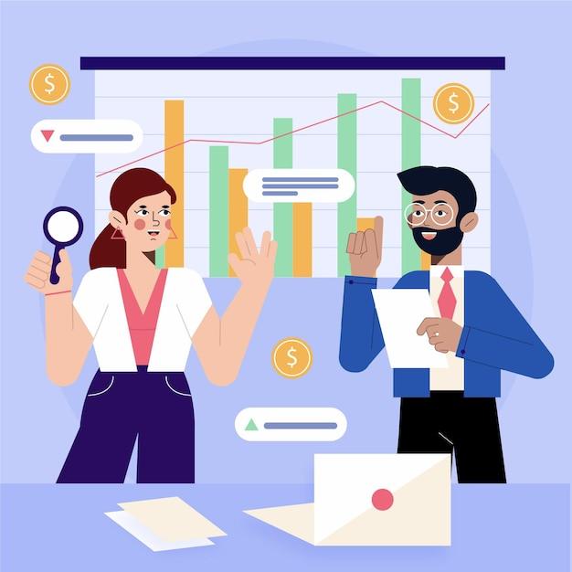 Progettazione di analisi del mercato azionario Vettore gratuito