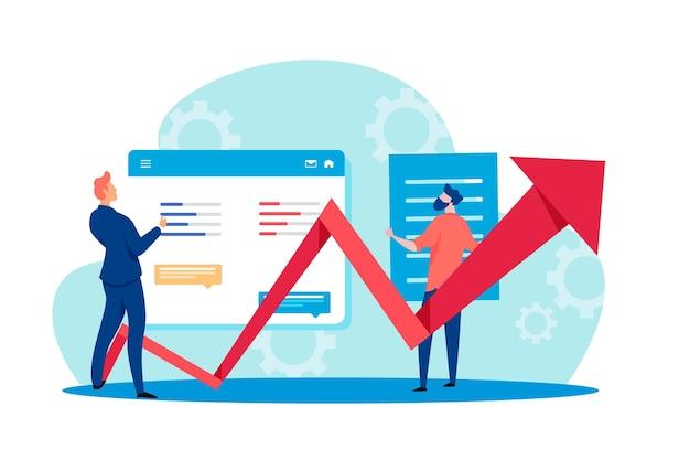 Stock market analysis Free Vector