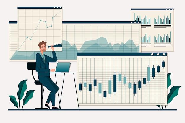 株式市場分析 Premiumベクター