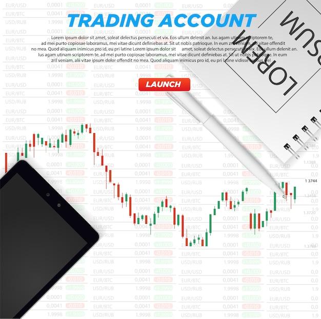 Stock market chart Premium Vector