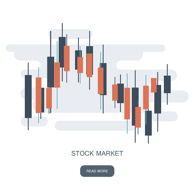 Stock market diagram logo Premium Vector