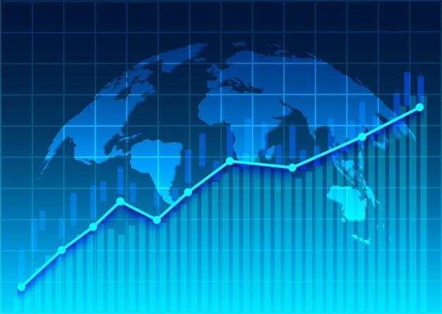 Stock market and exchange of world Premium Vector