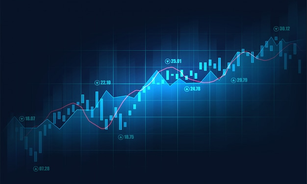 Premium Vector | Stock market or forex trading graph background