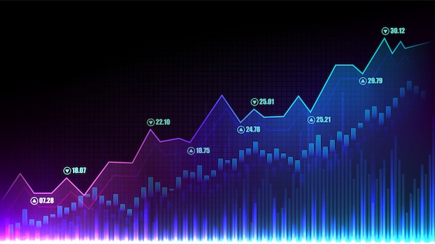 Stock market or forex trading graph in graphic concept | Premium Vector