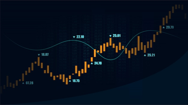 Stock market or forex trading graph in graphic concept Vector | Premium Download