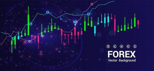 Stock market or forex trading Premium Vector