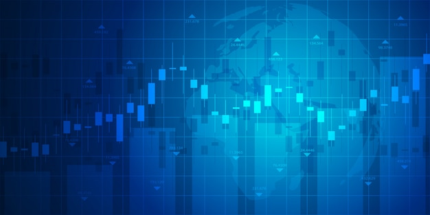 Stock market graph or forex trading chart for business and financial concepts Premium Vector