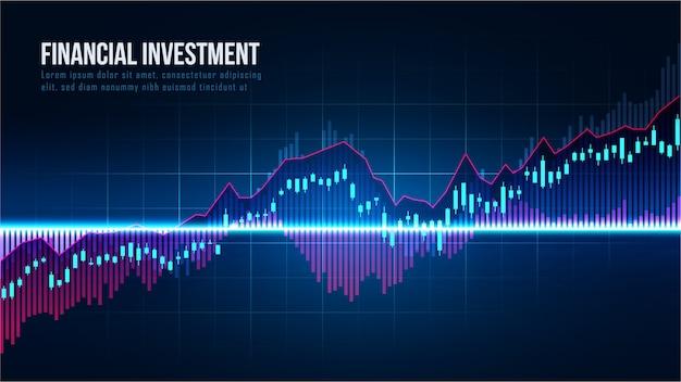 Концепция индикаторов фондового рынка или форекс Premium векторы