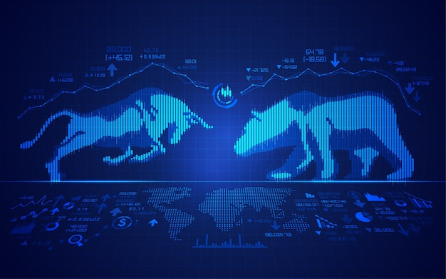 Stock market Premium Vector