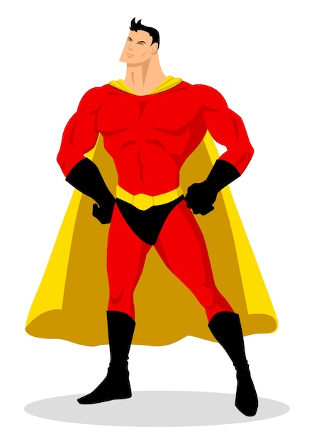 Premium Vector Stock Vector Of A Cartoon Superhero In Gallant Pose
