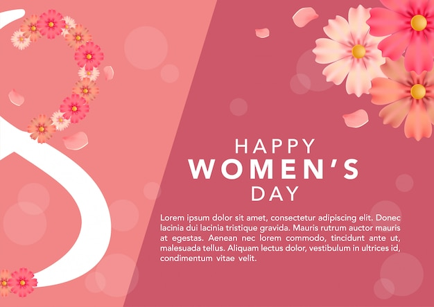 Stock vector international women's day template Premium Vector